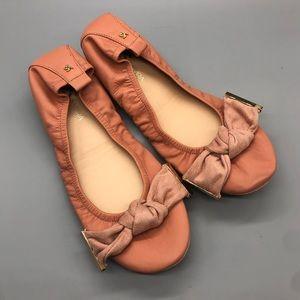 New! Yosi Samra Stella knot bow top ballet flats